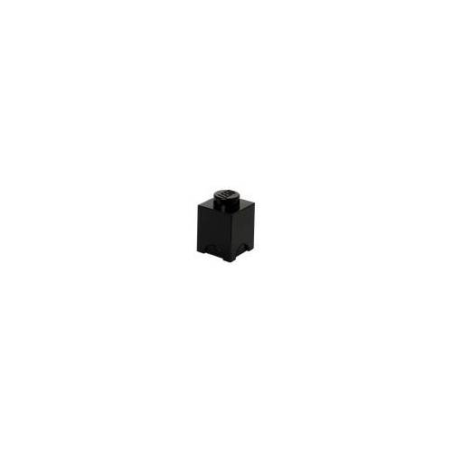 Lego Aufbewahrungsstein mit 1 Noppe in Schwarz