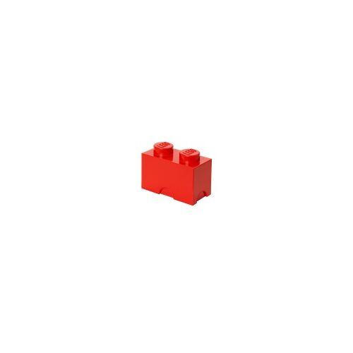 Lego Aufbewahrungsstein mit 2 Noppen in Rot