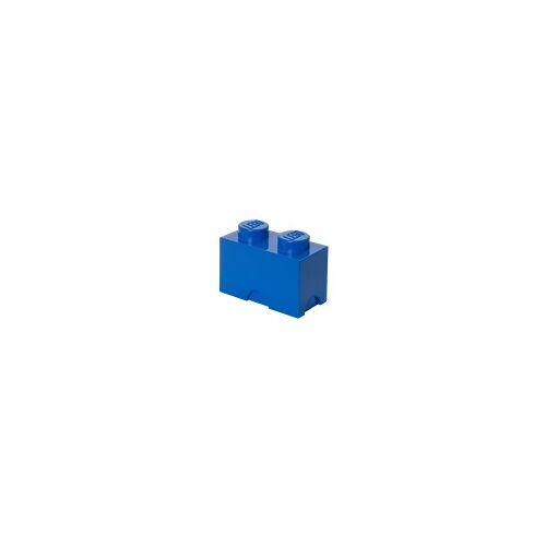 Lego Aufbewahrungsstein mit 2 Noppen in Blau
