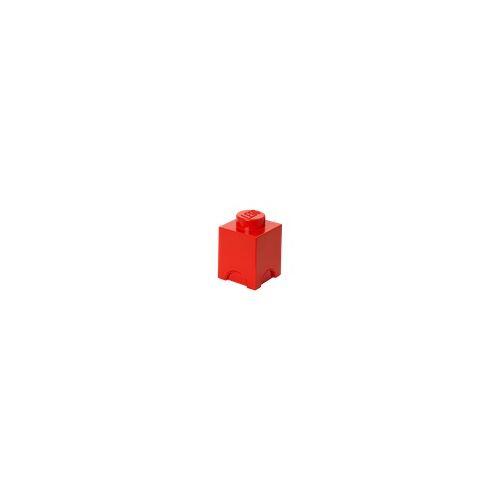 Lego Aufbewahrungsstein mit 1 Noppe in Rot