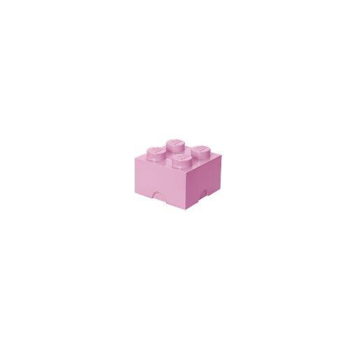 Lego Aufbewahrungsstein mit 4 Noppen in Rosa