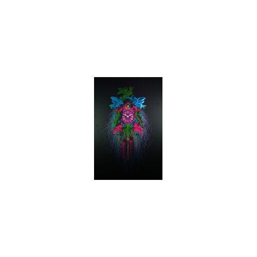 Romba -Echte Kuckucksuhr als Wandbild 90cm Bunt- AL37-A