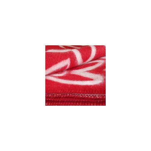Klippan Yllefabrik AB Designer Wolldecken Klippan Wolldecke Herz Hjaerta Wollplaid Hearts red / white
