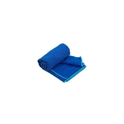 YOGISAN Yogatuch Extra Grip zweifarbig Blue