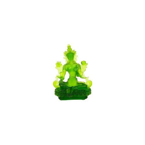 YOGISAN Grüne Tara aus Quarzkristallglas