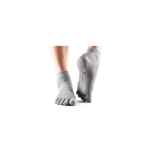 YOGISAN Yoga Socken mit Noppen Grey L
