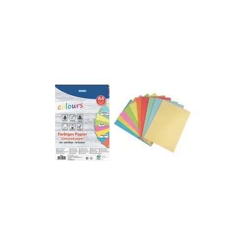 TOPPOINT Kopierpapier A4 75/80g sort. TOPPOINT 40825 250BL