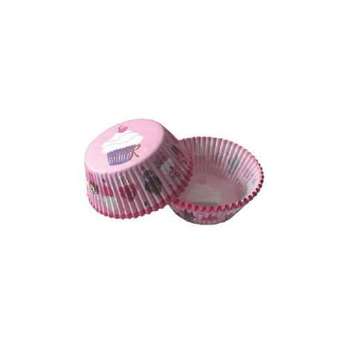 Backförmchen Cupcake 50ST Muf-6 50mm D. Cupcakes rosa