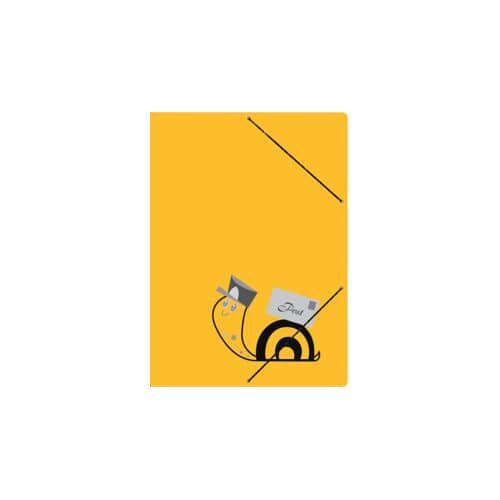 RNK Sammelmappe Postmappe gelb RNK 4658 Schneckenpost