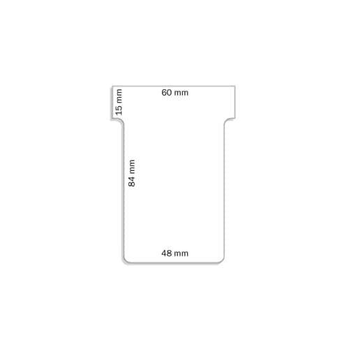 FRANKEN T Karte 100 Stück rot FRANKEN TK201 84x48 mm