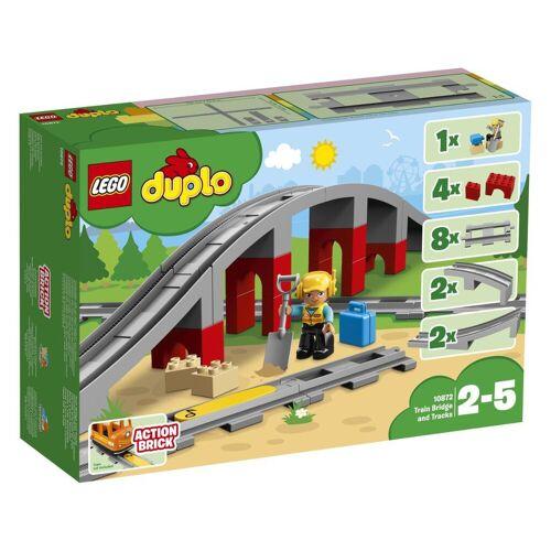LEGO® Eisenbahnbrücke und Schienen