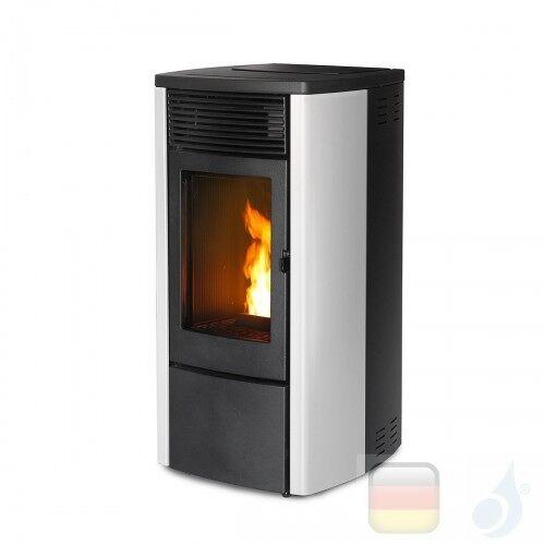 MCZ Pelletöfen serie Ego Air 8 UP! M1 8.1 kW metal Weiß 7119003 Maestro-Fernbedienung mit Raumthermostat A+