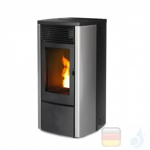 MCZ Pelletöfen serie Ego Air 8 UP! M1 8.1 kW metal Inox no touch 7119003 Maestro-Fernbedienung mit Raumthermostat A+