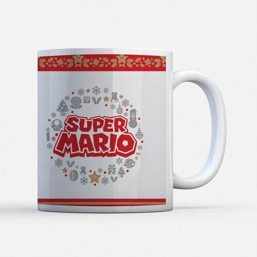 Nintendo Super Mario Wreath Logo Tasse