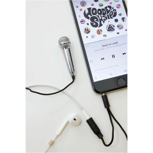 Kikkerland Mini-Karaoke Mikrofon - Silber