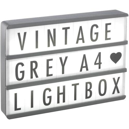 Gingersnap A4 Kino-Leuchtkasten aus Holz - Vintage Grau