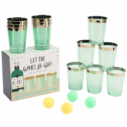 CGB Giftware Gin Pong Trinkspiele