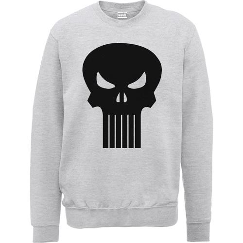 Marvel The Punisher Skull Logo Männer Sweatshirt - Grau - M - Grau