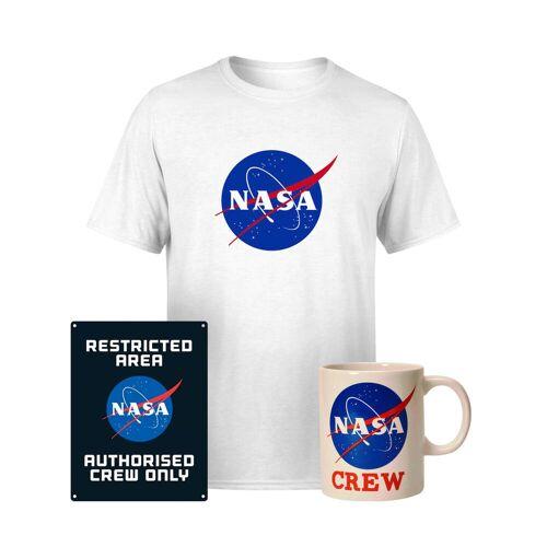 NASA Paket: T-Shirt, Tasse & Blechschild - Men's - M