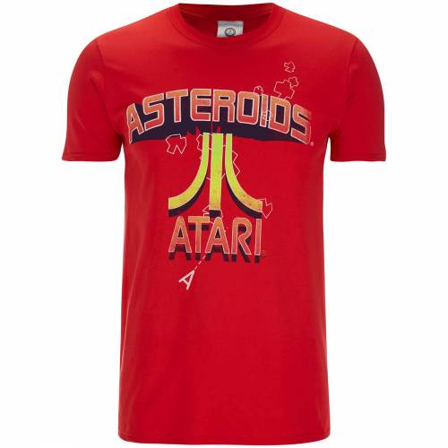 Character Hub Atari Men's Asteroids Atari Vintage Logo T-Shirt - Red - L - Rot