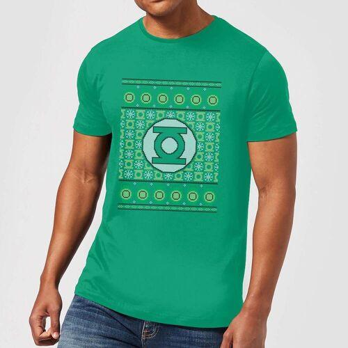 DC Green Lantern Knit Herren Christmas T-Shirt - Grün - L - Kelly Green
