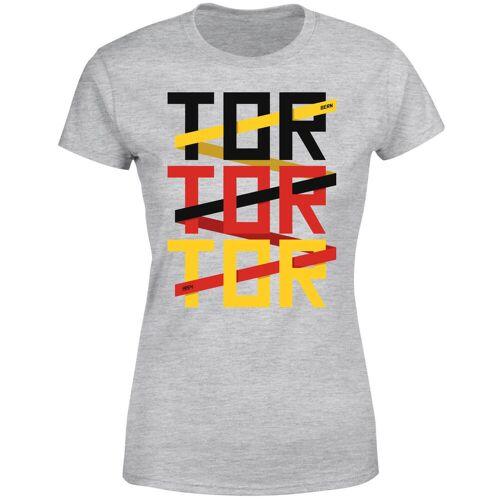 By IWOOT Fussball Weltmeisterschaft TOR TOR TOR Damen T-Shirt - Grau - 3XL - Grau