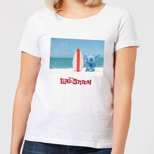Disney Lilo And Stitch Surf Beach Damen T-Shirt - Weiß - S - Weiß