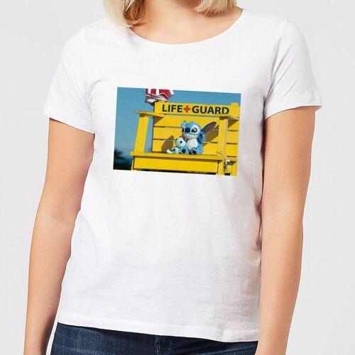 Disney Lilo And Stitch Life Guard Damen T-Shirt - Weiß - 3XL - Weiß