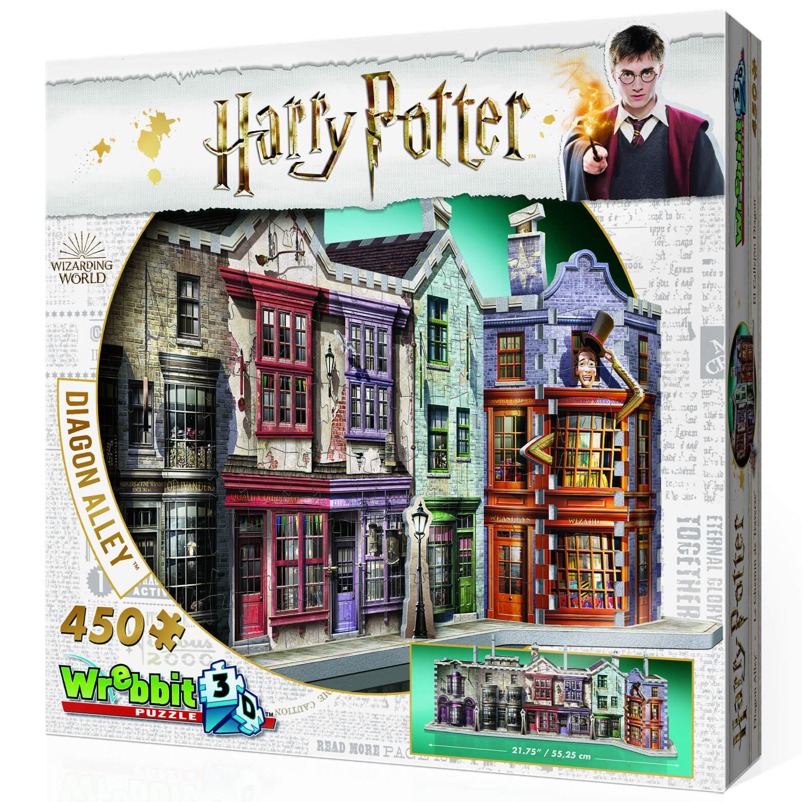 Wrebbit Harry Potter Winkelgasse 3D Puzzle (450 Teile)
