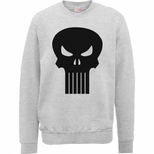 Marvel The Punisher Skull Logo Männer Sweatshirt - Grau - XL - Grau