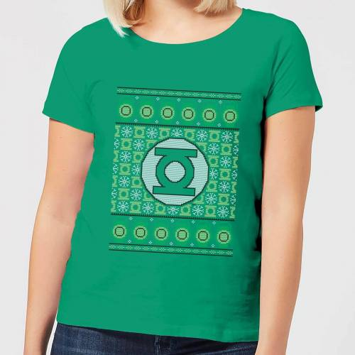 DC Green Lantern Knit Damen Christmas T-Shirt - Grün - XS - Kelly Green