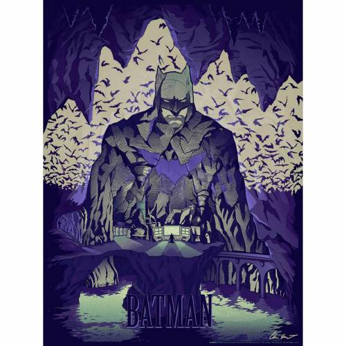 Acme Archives DC Comics Batman  Batcave  46 x 61 cm (Glow in the Dark) Lithographie Print von Chris Kawagiwa