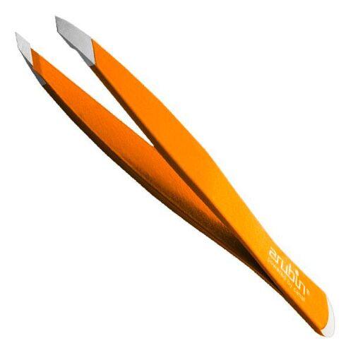 Canal Pinzette schräg mit Nagelhautschieber Orange
