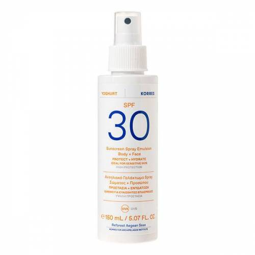 KORRES Yoghurt Sonnenschutz Sprüh-Emulsion für Gesicht & Körper SPF 30 150 ml