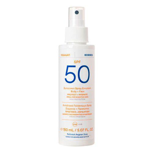 KORRES Yoghurt Sonnenschutz Sprüh-Emulsion für Gesicht & Körper SPF 50 150 ml