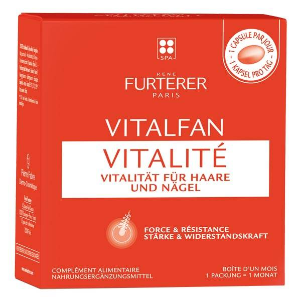 René Furterer Vitalfan Vitalité Kraft für Haare und Nägel Nahrungsergänzungsmittel Pro Packung 30 Stück