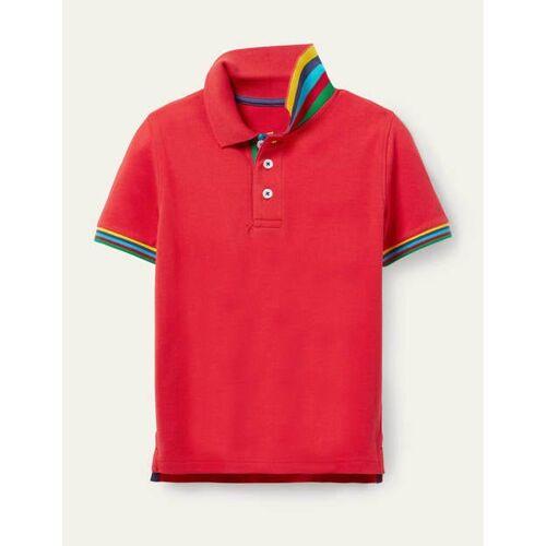 Mini Erdbeerkuchenrot Piqué-Poloshirt Boden Boden, 110 (4-5J), Red