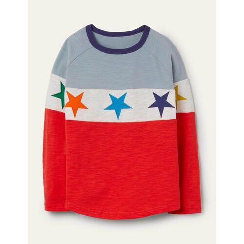Mini Erdbeerkuchenrot, Sterne Raglan-T-Shirt Boden Boden, 164 (13-14J), Red