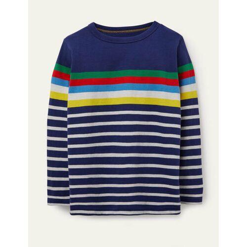 Mini Blau Lustiges Breton-T-Shirt Boden Boden, 122 (6-7J), STR