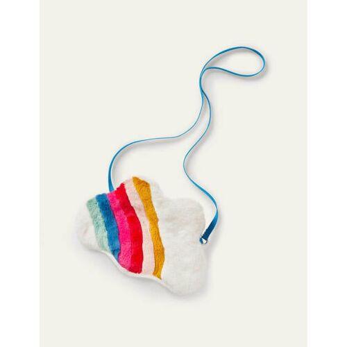 Mini Weiß, Regenbogen Tasche mit Regenbogen und Wolke Boden Boden, Eine Größe, White