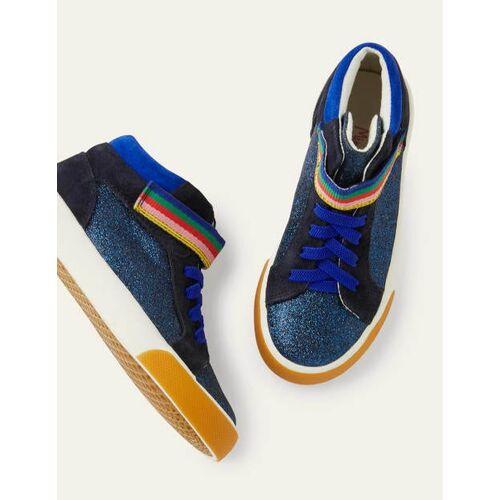 Mini Blitzblau, Glitzer Hochgeschnittene Glitzerschuhe Boden Boden, 31, Blue