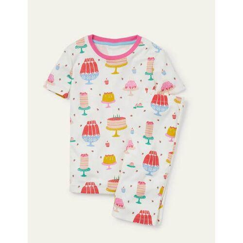 Mini Naturweiß, Kuchen/Wackelpudding Kurzer bequemer Schlafanzug Boden Boden, 122 (7J), Ivory