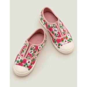 Mini Delfinrosa/Weiß, Beerenblüte Leinenschuhe ohne Schnürsenkel Mädchen Boden, 39, Pink