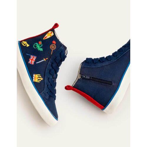 Mini Navy Hochgeschnittene Schuhe Jungen Boden, 31, Blue