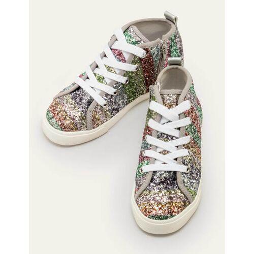 Mini Bunt/Regenbogen, Glitzer Hochgeschnittene Schuhe mit Regenbogenglitzer Mädchen Boden, 39, Multi