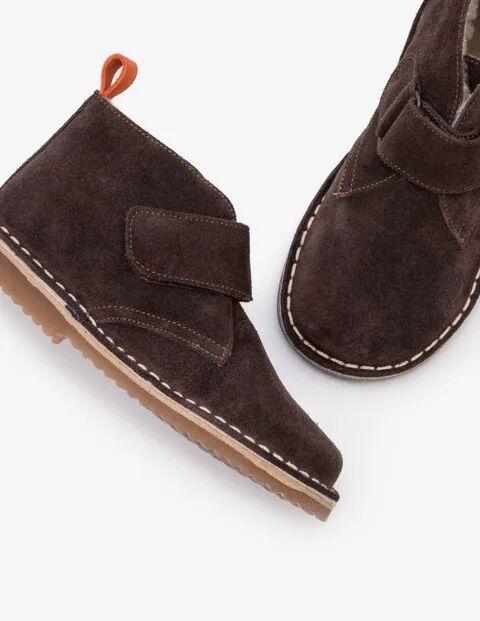 Mini Braun Desert Boots aus Wildleder Jungen Boden, 26, Brown
