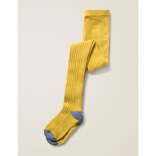 Mini Gelb Rippenstrumpfhose Baby Baby Boden, 152, Yellow