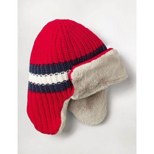 Mini Rot Bequeme Mütze mit Ohrenklappen Jungen Boden, S, Red