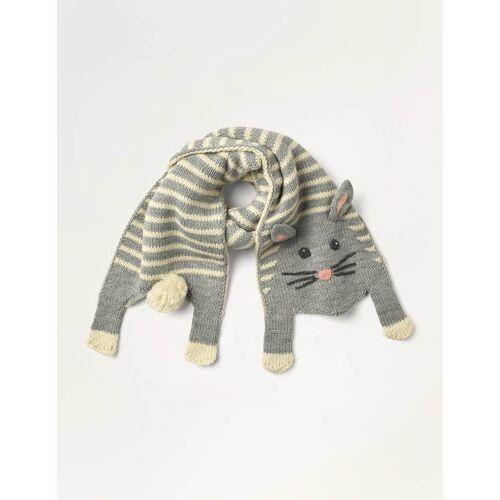 Mini Grau Lustiger Schal mit Häschen Mädchen Boden, Eine Größe, Grey