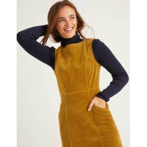 Boden Gold Colette Cord-Kleid Damen Boden, 38 PET, Gold